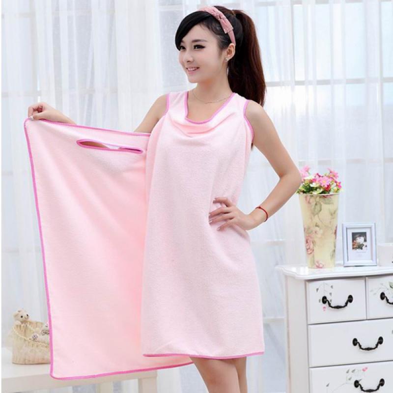Fürdőköpeny törölköző - rózsaszín  c517b3efdf