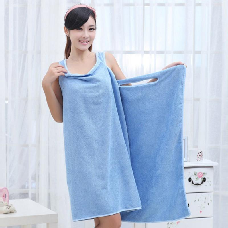 Fürdőköpeny törölköző - kék  bd4b0662dd